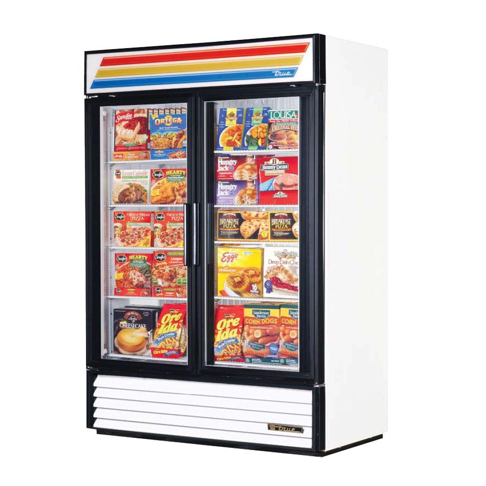 True Glass Door Merchandiser Freezer Model Doors Shelves Cabinet Dimensions Hp Voltage Amps Crated Weight