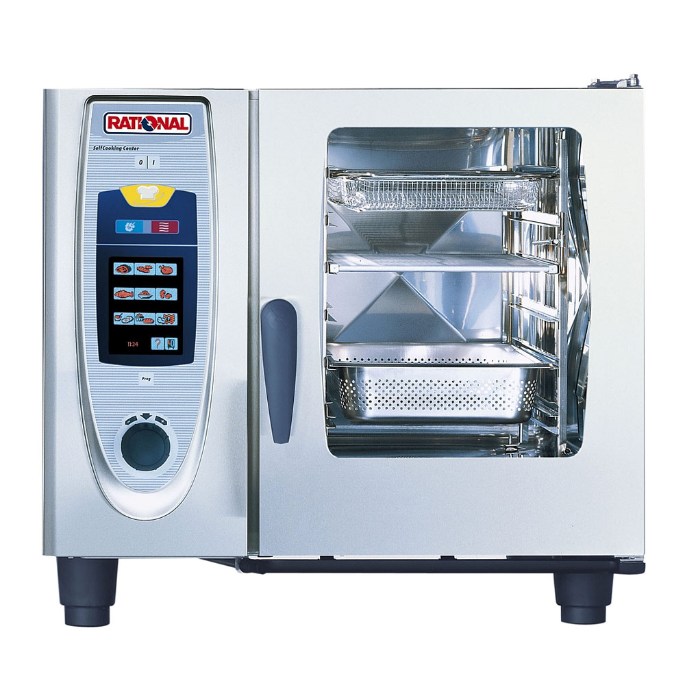 Rational Combi-Oven. Model: Capacity: Lengthwise loading for: Number of  meals per day: Dimensions WxDxH: Water supply (pressure hose): Water  pressure