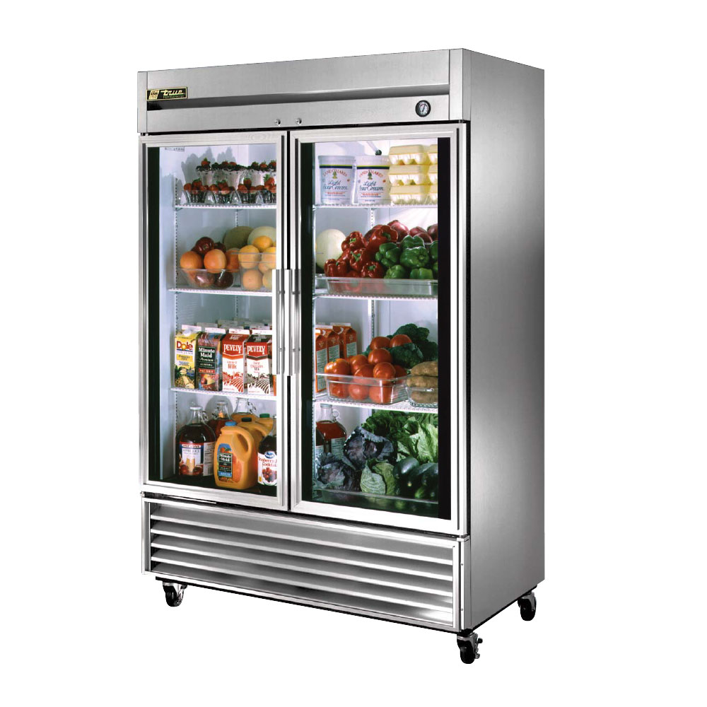 True Reach In Glass Door Refrigerator